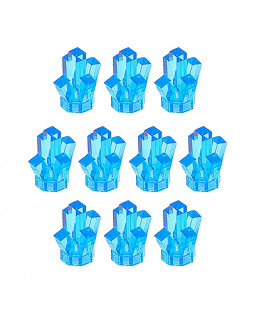 10 Power Miners Crystals - Medium Blue