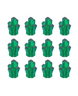 12 Power Miners Crystals - Transparent Green