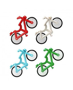 4 Bicycles (Green, Blue, Red & White)