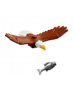Bald Eagle & Silver Fish
