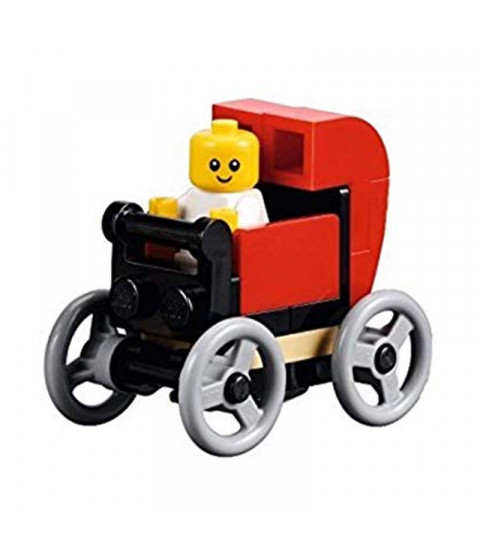 Baby in Red Carriage