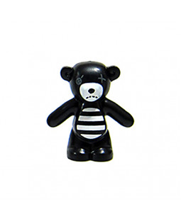 Black & White Gothic Teddy Bear
