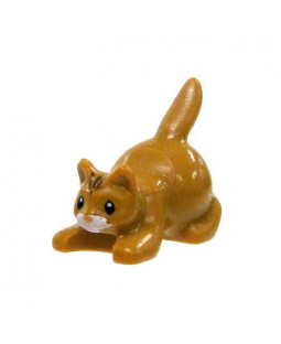 Brown Crouching Cat