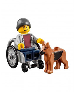 Wheelchair Guy with Dog - Fun in the Park